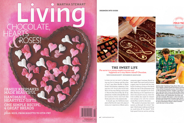 Martha Stewart Magazine Features Black Dinah Chocolatiers