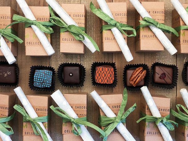 Two Piece Chocolate Truffle Box for Holiday