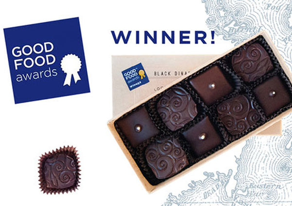 Good Food Award Winning Truffles Mint, Black Currant
