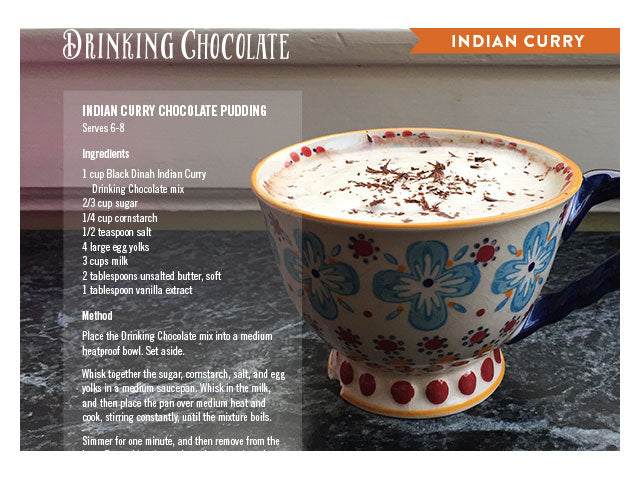 Indian Curry Milk Chocolate Drinking Chocolate