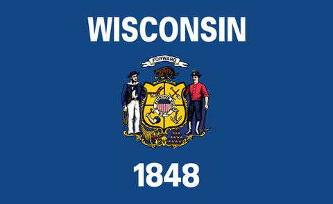 Sticker - WI State Flag