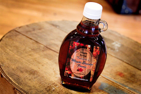 Wisconsin Pure Maple Syrup - Half Pint Glass