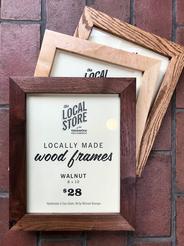 Locally Made Wood Frame Walnut 8x10 The Local Store
