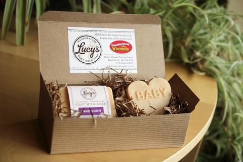Lucy's Goat Milk Soap - Baby & Handbar Boxed Set