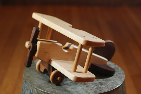 Hower Toys - Biplane Wooden Toy