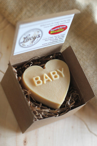 "Lucy's Goat Milk Soap - ""Baby"" Heart"