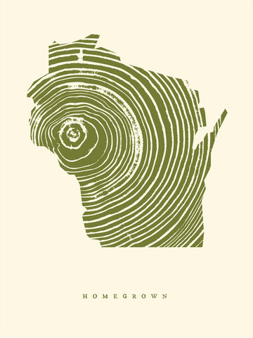 Homegrown Wisconsin Print 18x24