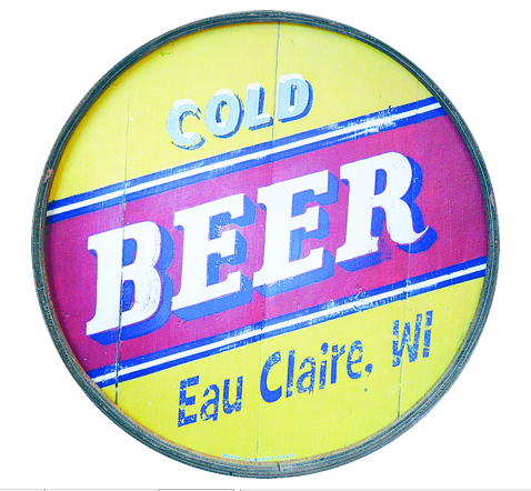 Cold Beer - Eau Claire - Wooden Barrel End