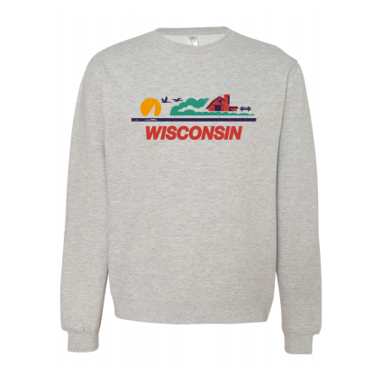 Crewneck - Wisconsin License Plate