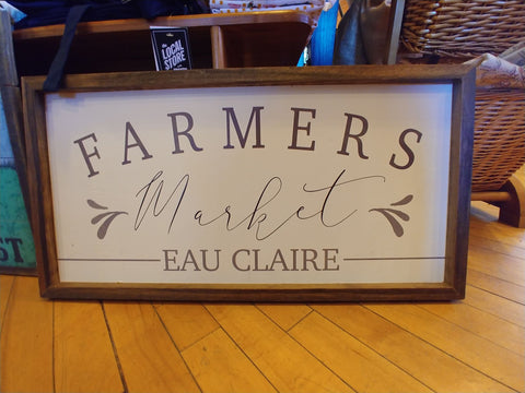 12x24 Wood Sign - Eau Claire Farmers Market