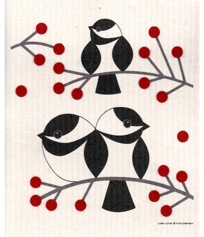 Swedish Dishcloth - Chickadee