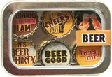 Bottle Cap Magnet Set - Beer