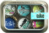 Bottle Cap Magnet Set - Bike