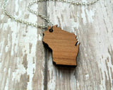 Wood Wisconsin Necklace
