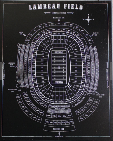 Lambeau Field Print - Black