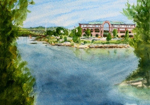 Confluence of Rivers Greeting Card