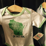 Onesie - Wisconsin Home (Green)