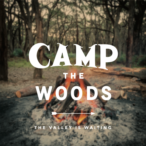 Camp the Woods Print - 12x12