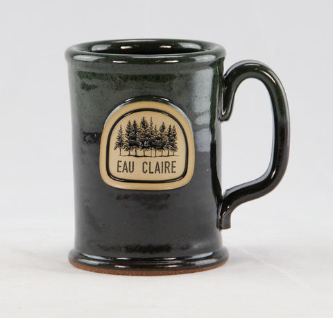 Stoneware - EC Trees Straight Shot Mug- Royal Green