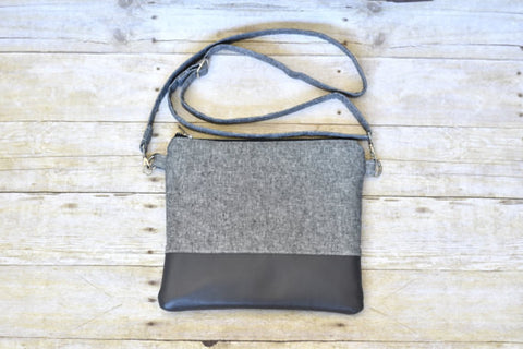 Cross Body Bag w/Vinyl - Large