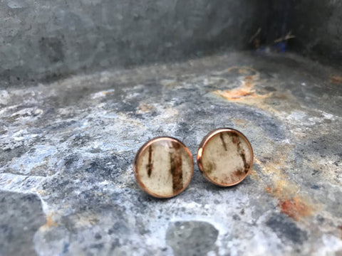 Birch Bark Stud Earrings