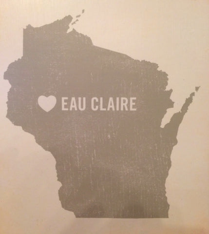 Wood Block Wall Art - (Eau Claire, WI) 8x10