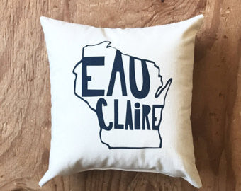 Eau Claire State Pillow- Green