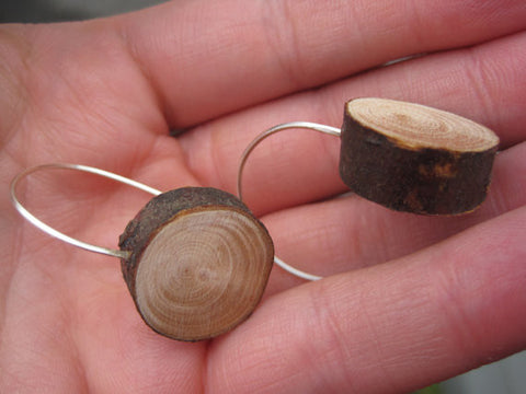 Wood Slice Earrings