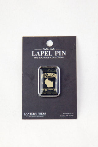 Lapel Pin - Wisconsin Pride (Black)