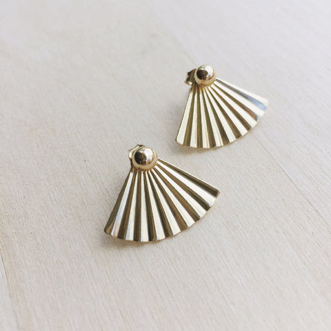 Fan Earring Jacket - Silver