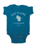 Eau Claire is My Playground Teal Onesie