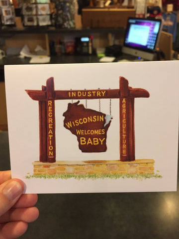 Wisconsin Welcomes Baby Greeting Card