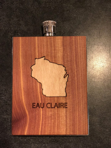 Wood Flask - Cedar (Eau Claire)