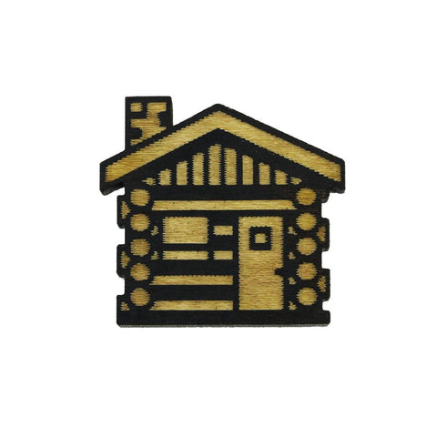 Lapel Pin - Cabin (Wood)