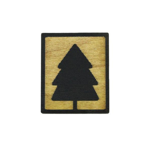 Magnet - Evergreen Tree (Wood)