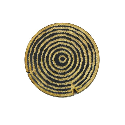 Lapel Pin - Tree Rings (Wood)