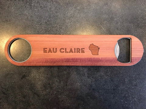 Wood Bottle Opener-Eau Claire (Cedar)