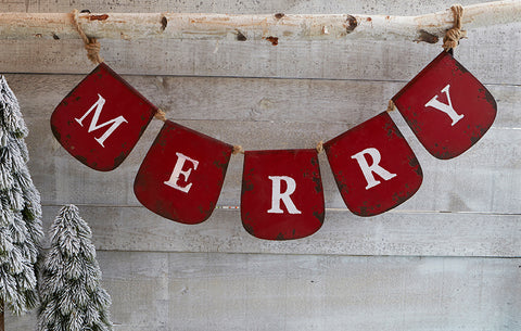 """Merry"" Banner - Red"