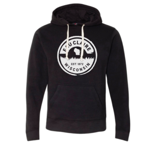 Eau Claire Forest Hoodie (Black & White)