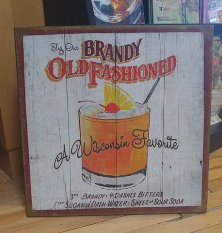 Old Fashion Wood Sign 18X18