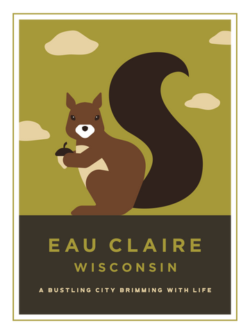Eau Claire Animal Series Print - Squirrel