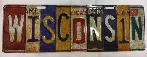 Wisconsin License Plate Magnet