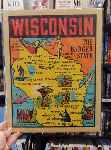 Wisconsin Shadowbox Print - The Badger State