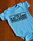 Made in Eau Claire Onesie (Blue)