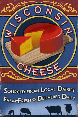 Metal Sign - Wisconsin Cheese (12x18)