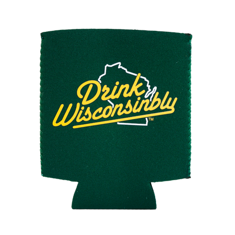Koozie - Drink Wisconsinbly (Green)