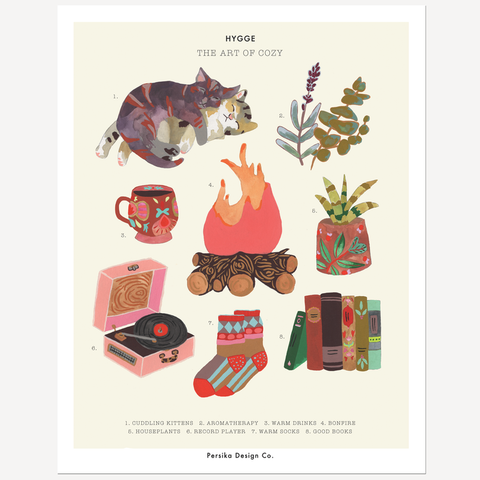 Hygge - The Art of Cozy Print (11x14)