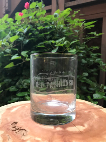 Wisconsin Old Fashioned Glass
