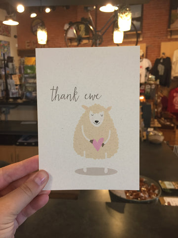Ewe Greeting Card