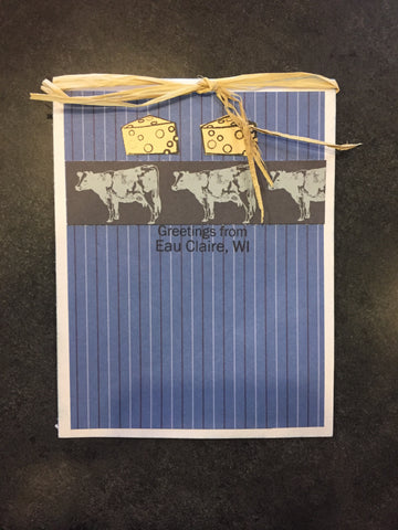 Cow Cheese Greeting Card